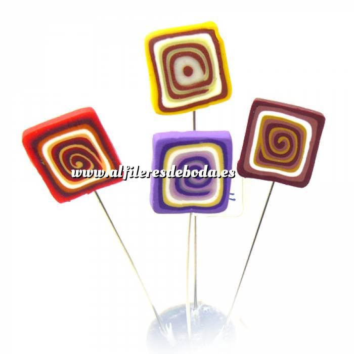 Imagen Alfileres fimo Alfiler clásico Fimo 11 (cuadrados colores)