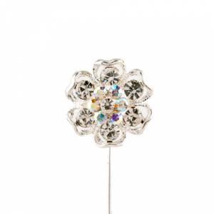 Alfileres especiales - Alfiler Especial 41 (flor plata)